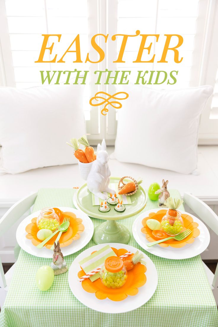 Easter Kids Table, simple ideas!