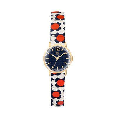 Orla Kiely | USA | accessories | Watches | Flower Pop Watch (0PHFLPP100) | navy red & white
