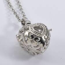 antiek zilver medaillon klonk kooi bal ketting hanger sieraden hanger