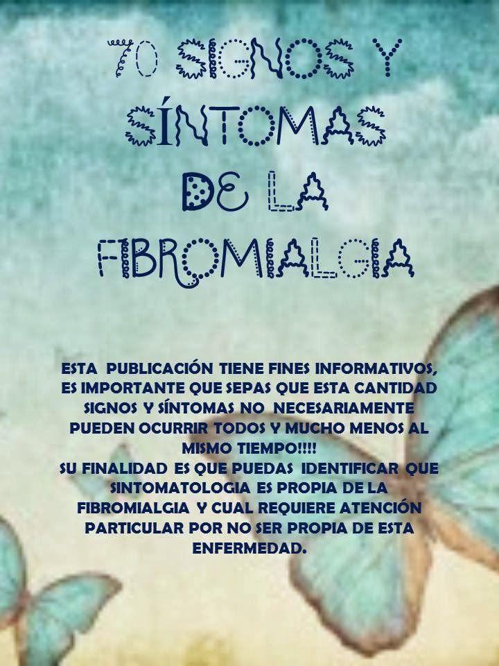 Fibromialgia Sintomas Y Tratamiento | Fundación Colombiana de Fibromialgia: 70 signos y síntomas de la ...