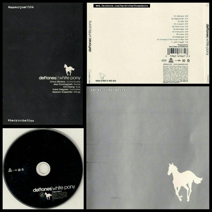 #HappyAnniversary 17 years #Deftones #WhitePony #album #alternative #metal #experimental #rock #numetal #music #00s #00smusic #ChinoMoreno #StephenCarpenter #ChiCheng #AbeCunningham #FrankDelgado #TerryDate #00salbum @deftonesband #CD #US #2000 #2000s