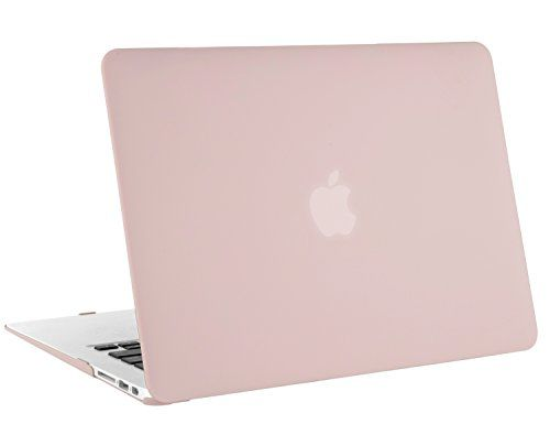"MacBook Air 13 Case, Mosiso Soft-Touch Plastic See Through Hard Shell Snap On Case Cover for MacBook Air 13.3"" (A1466 & A1369) Rose Quartz (Baby Pink) with One Year Warranty"