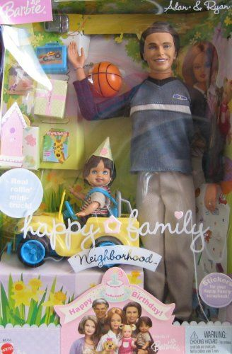 Barbie Happy Family ALAN  RYAN Dolls Happy Birthday w 2 DOLLS Mini TRUCK  Accessories 2003 *** You can find more details by visiting the image link.