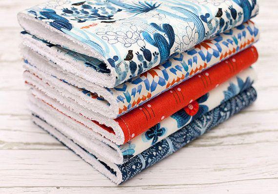 Baby Burp Cloths Set of 5, Baby Gift, Baby Shower, Newborn, Nursing, Feeding Burpcloths, Cactus