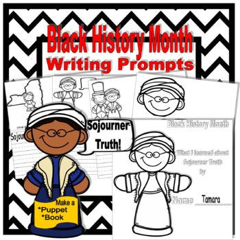 Digital download, 24 pgs, $2.10, available at https://www.teacherspayteachers.com/Product/Black-History-Month-Sojourner-Truth-Writing-Prompts-3615174 This packet is designed to inspire kindergarteners to discuss and write about Sojourner Truth's work towards the abolishment of slavery and women's rights. Your students will enjoy using these writing activities and learning about famous African Americans and their contribution to American History, Arts, Music, and Science. A great addition to…