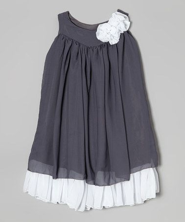 Look what I found on #zulily! Gray & White Swing Dress - Infant, Toddler & Girls by Kid Fashion #zulilyfinds