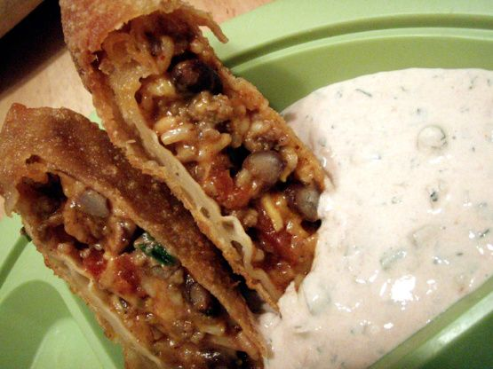 The 25 best tex mex egg roll recipe ideas on pinterest tex mex egg rolls with creamy cilantro dipping sauce forumfinder Choice Image