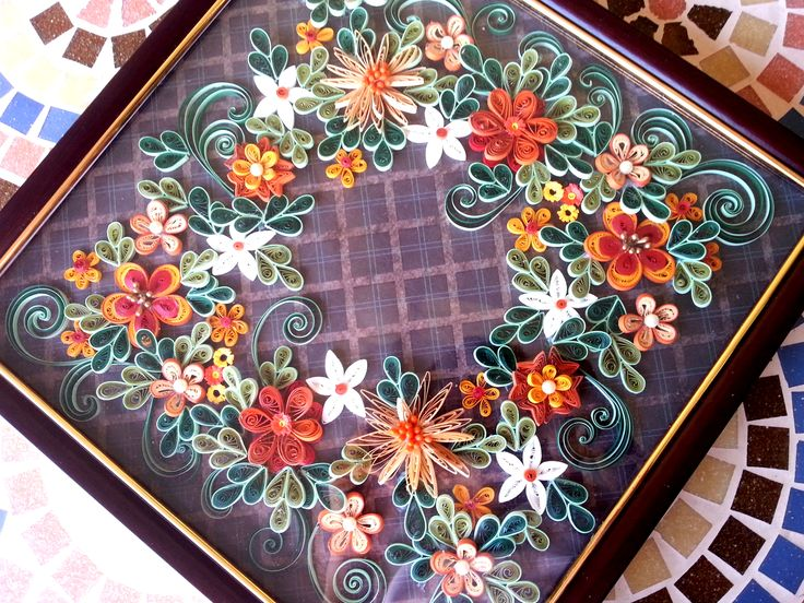 A place mat for center table quilling pinterest for Deco quilling