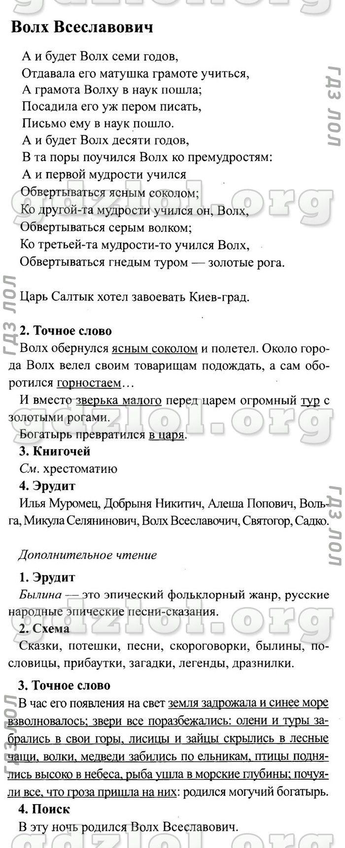 Www.slovo.ws по литературе 2 класс авторы климанова горецкий готовые домашние задания