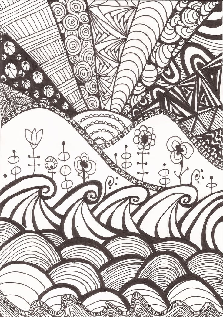 Doodle Art @bynina Feel free for colour and share!