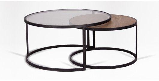 Coricraft Nesting Tables In 2019 Modern Glass Coffee Table Dark