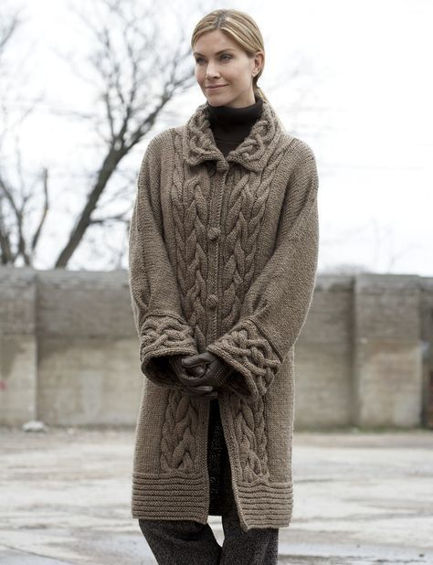 Yarnspirations.com - Patons Cable Car Coat - Patterns  | Yarnspirations