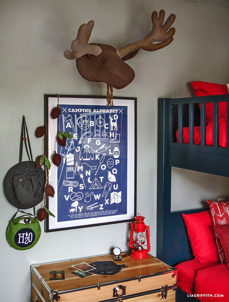 This Camping-Themed Bedroom Makeover Will Make You Want to Be A Kid Again   countryliving.com