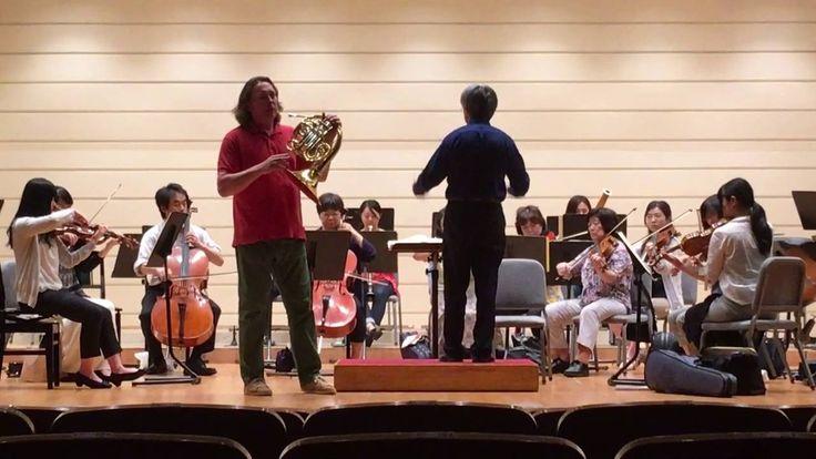 W.A. MOZART: Horn Concert No. 3 II Mov rehearsal