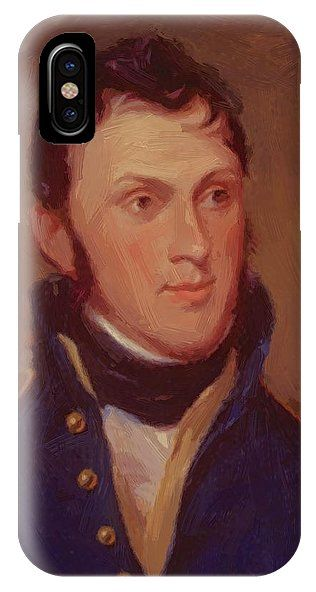 Stephen IPhone X Case featuring the painting Stephen Harriman Long 1819 by Peale Charles Willson