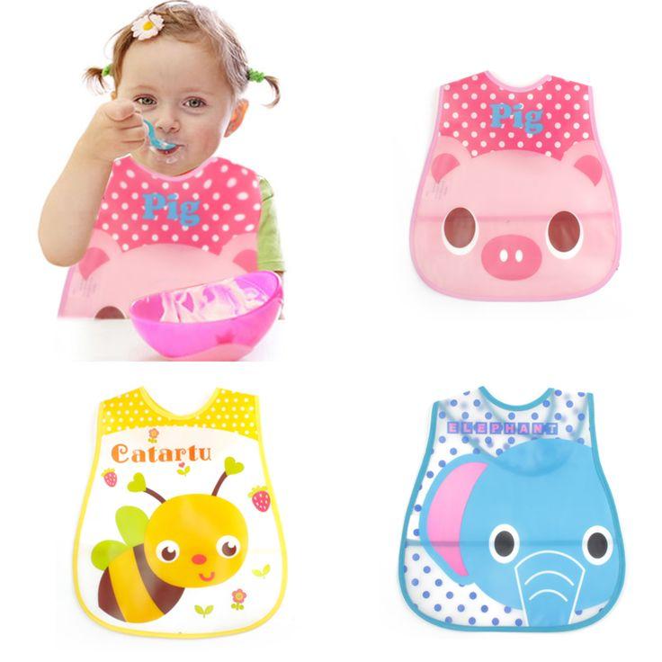 Baby & Kids Cute Cartoon EVA Bibs Waterproof Bandana Silicone Children Baby Bibs Boys Girls Infants Burp Clothes Feeding Care