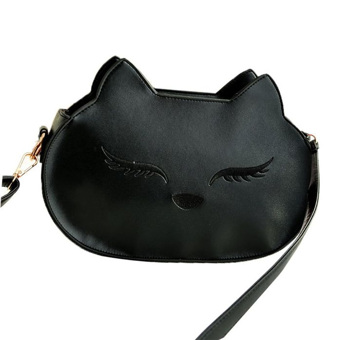 niceEshop(TM) Damen PU Leder Katze Design Schultertasche: Amazon.de: Schuhe & Handtaschen