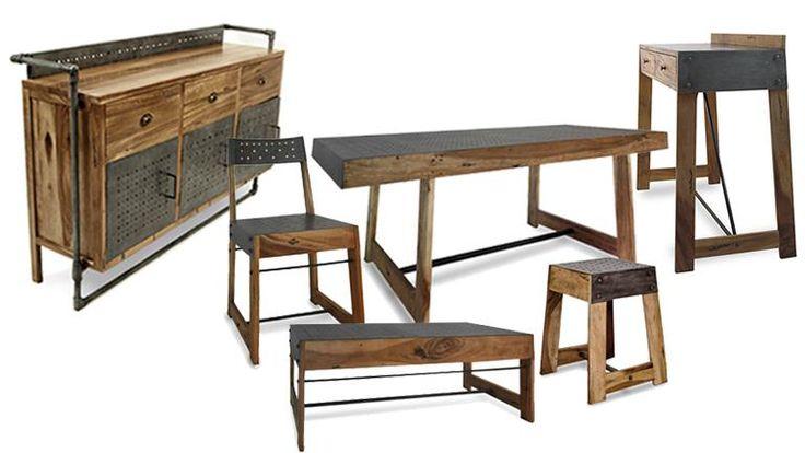 Composez votre salle manger compl te manchester style manchester and m - Table a manger style industriel ...