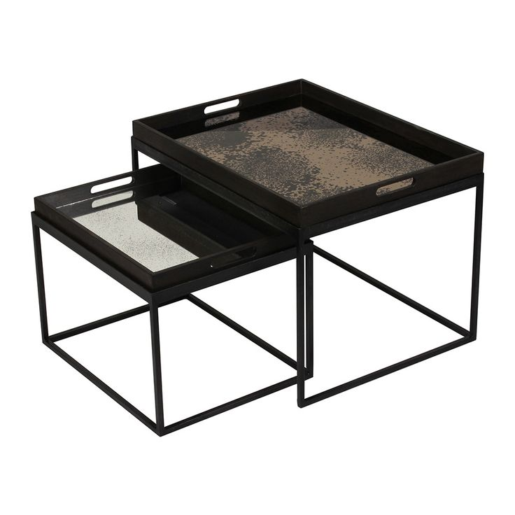 buy notre monde rectangular nesting tray table set in 2019. Black Bedroom Furniture Sets. Home Design Ideas