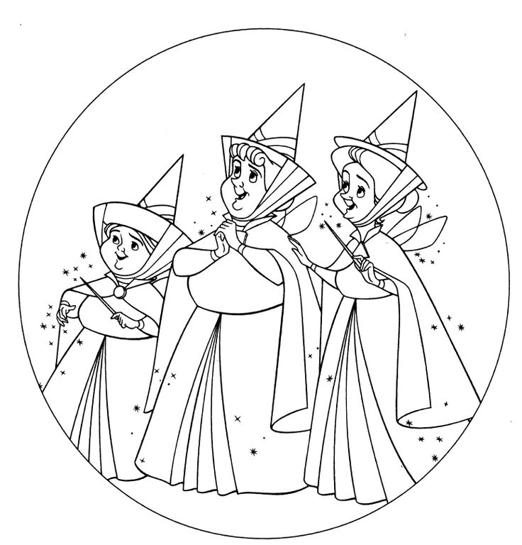 sleeping beauty fairies coloring pages coloring pages. Black Bedroom Furniture Sets. Home Design Ideas