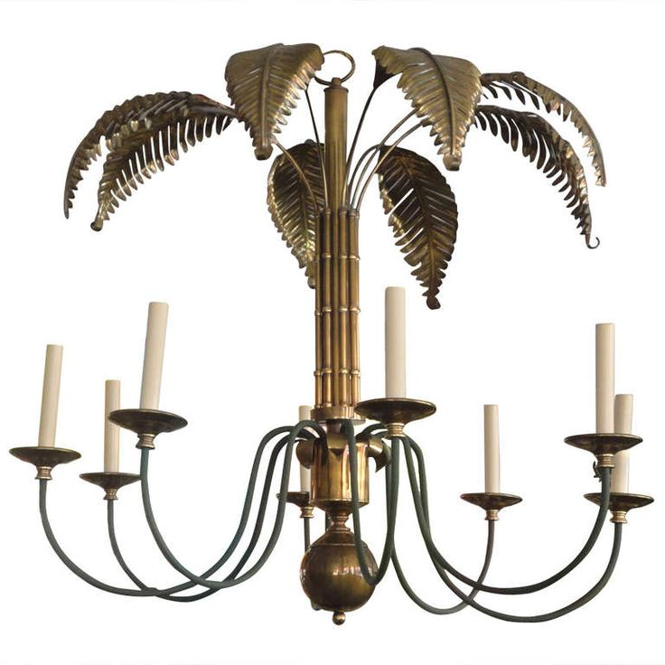 131 best tropic fever images on pinterest palm trees palm print brass palm tree chandelier aloadofball Choice Image