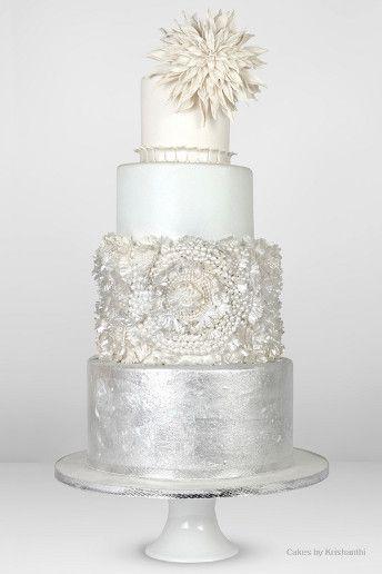 Metallic #wedding cake ideas: http://www.weddingandweddingflowers.co.uk/article/670/metallic-wedding-cakes