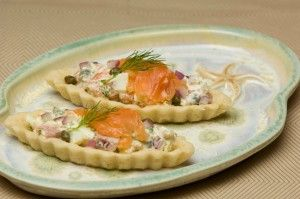 Smoked Salmon Barquettes | Appetizers | Pinterest