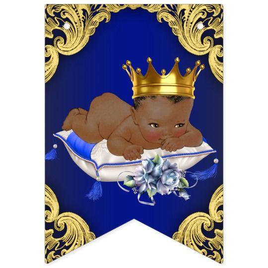 pix Black Baby Prince Image baby shower bunting