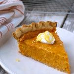 Southern sweet potato pie is a perfect Thanksgiving recipe that can be made ahead. #hearthealthy #recipe #sweetpotato #pie