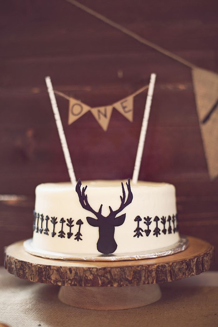 CUTE CAKE from this Little Brave Man themed 1st Birthday Party with Such Cute Ideas via Kara's Party Ideas Kara's Party Ideas | Cake, decor, cupcakes, games and...