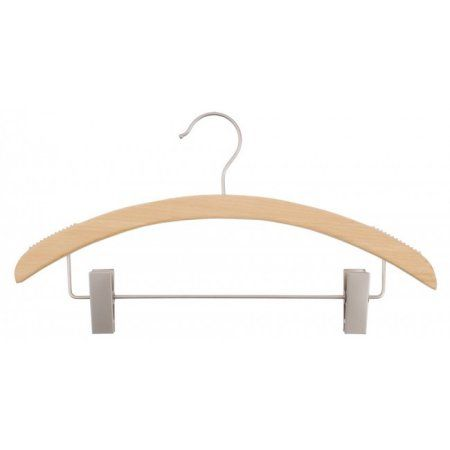Nahanco Wooden Suit Hangers - Retro Series - Low Gloss Natural - Home Use