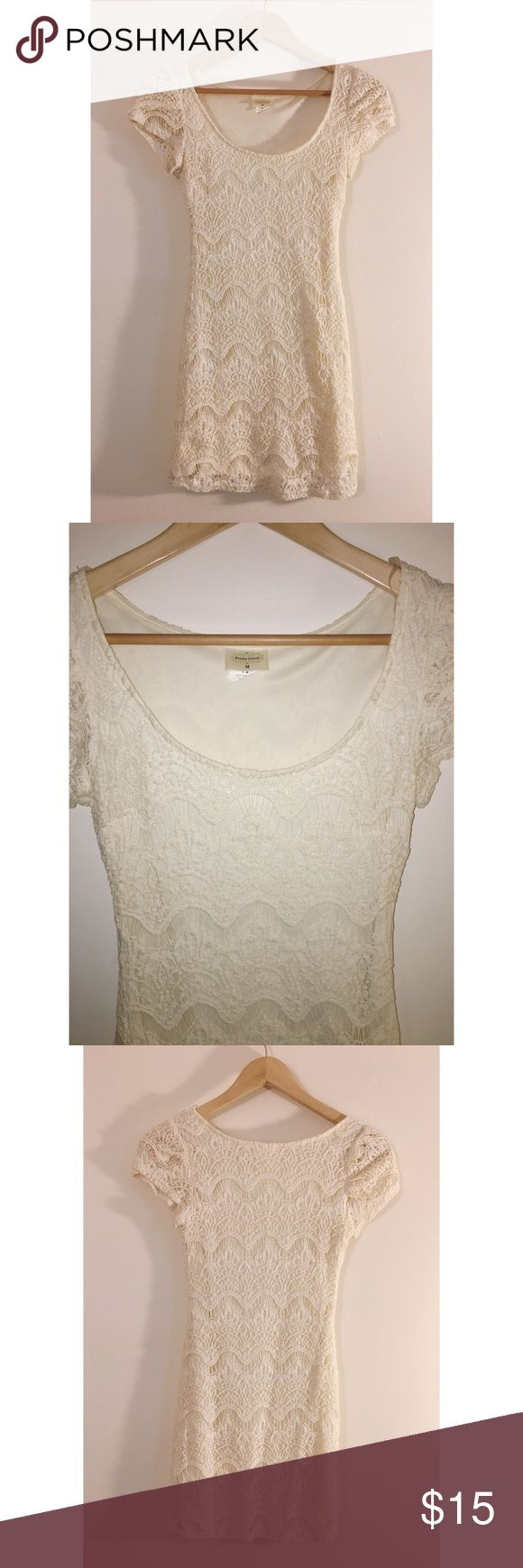 🌵Crochet Dress Cream/White crochet short dress. Says size M, but definitely fits like an XS-S. Wore twice, excellent condition. Brand is Pretty Good. 🌵ALL ITEMS WITH THIS SYMBOL🌵 ARE BOGO FREE! Dresses