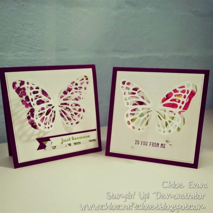 www.chloscraftcloset.blogspot.com.au - Stampin' Up! Party Time in Sydney - Butterfly die.