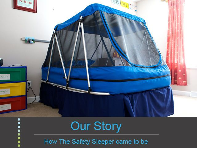 The Safety Sleeper™ by Heiko Spallek. The Safety Sleeper™ is a fully enclosed and portable bedframe designed by a mother of an autistic child.
