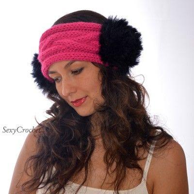 "funny knitted headband ""Ears"" / Diadema divertida tipo gorro hecho en tejido de punto ""Orejas"" / Веселая вязаная повязка на голову, теплая и красивая"