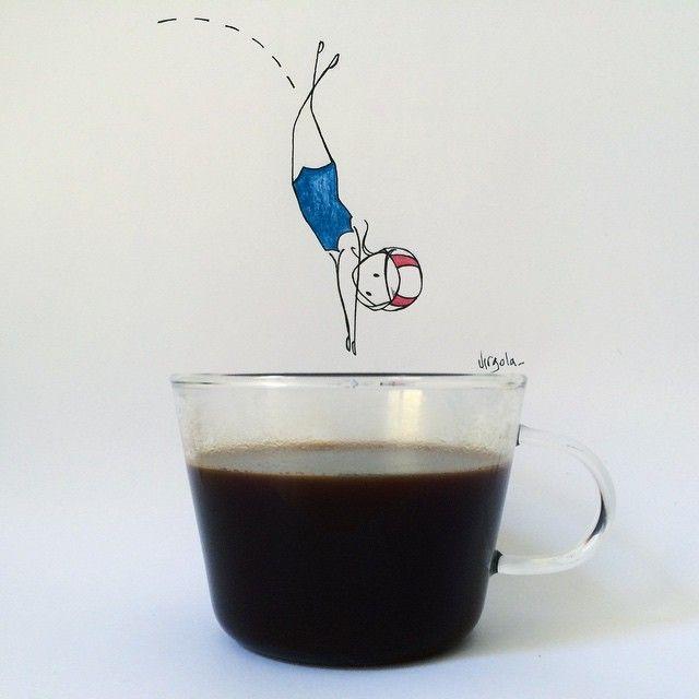 SnapWidget | Monday coffee ☕️ #virginiasdraws Virgola by Virginia Di Giorgio