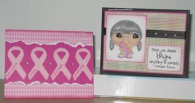 Glorias Goofy Craft Spot: Breast Cancer card