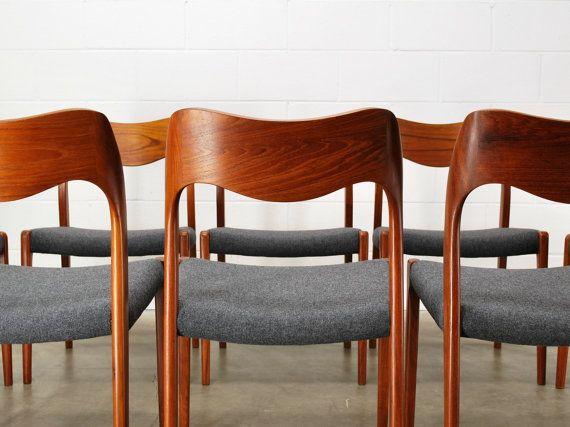 Danish Teak Dining Chairs Moller 71