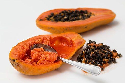 Mamão, Frutas Tropicais, Maduro