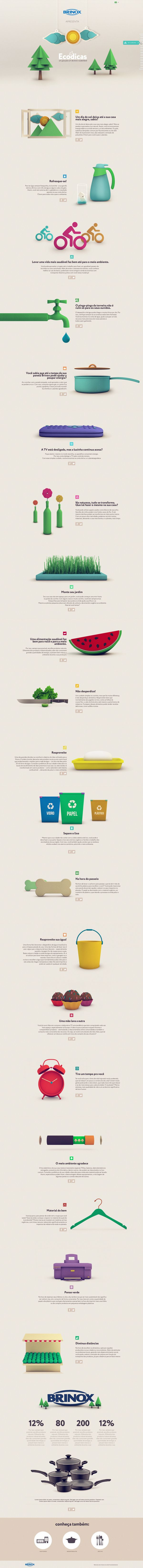 Eco Dicas - Brinox by Isabela Rodrigues, via Behance