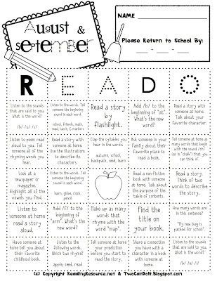 READ-O can be used in a variety of ways to keep your students practicing important skills at home during each month of the school year. Can give students a reward for completing a certain number of squares on each monthly Read-o page.