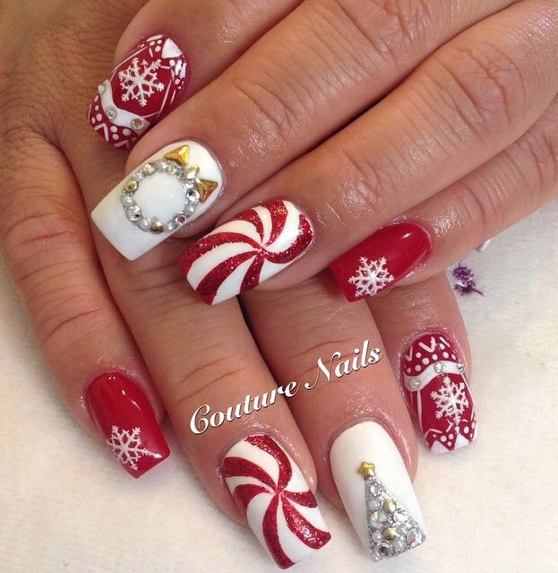 563 best Holiday Season Nail Art images on Pinterest | Christmas nails, Nail  scissors and Nail design - 563 Best Holiday Season Nail Art Images On Pinterest Christmas