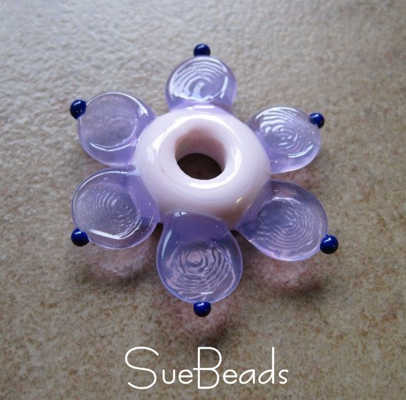 lampwork beads suebeads flower beads flower focal by suebeads