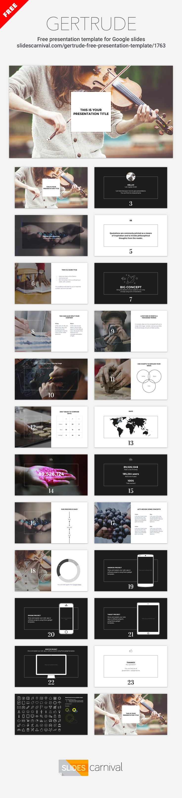 """Thanks to the minimal and elegant design of this template your content will shine. It makes a strong use of inspiring photography, you can leave the photos included with the design (selected to talk about """"creation"""") or use others that help you convey your message."""