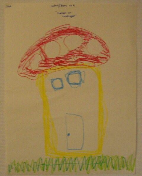 Schrijfdans paddenstoel