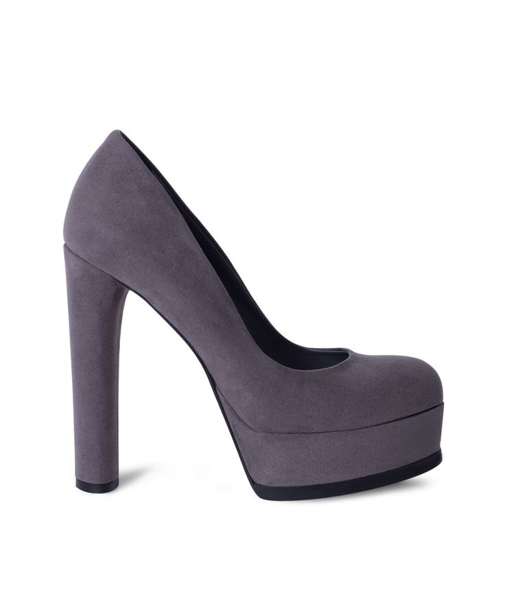 SANTE rounded toe pump with front platform for party nights!! Grey