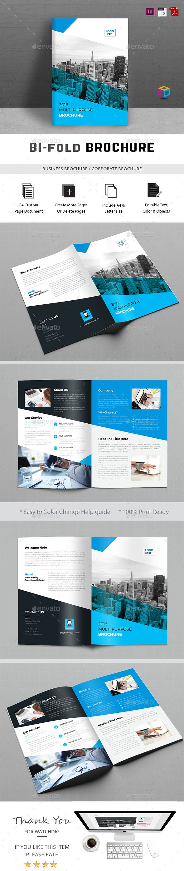Best BiFold Brochure Designs Images On Pinterest Brochures - Bi fold brochure template indesign