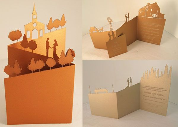 Love these laser cut invitations