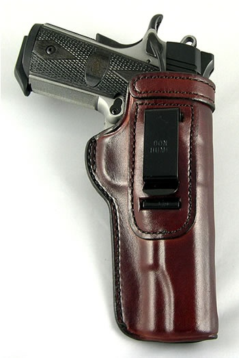 """Here's the Don Hume H715M W/C Clip-on IWB holster for a Colt Government 1911 5"""". This is one of Don Hume's most popular models due to the price point and performance."""