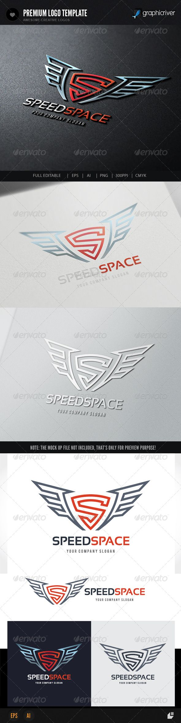 Speed Space Logo — Vector EPS #media #transport • Available here → https://graphicriver.net/item/speed-space-logo/8216478?ref=pxcr